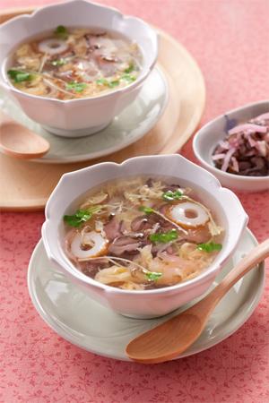 桜たまごスープ
