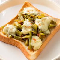山クラゲのチーズトースト