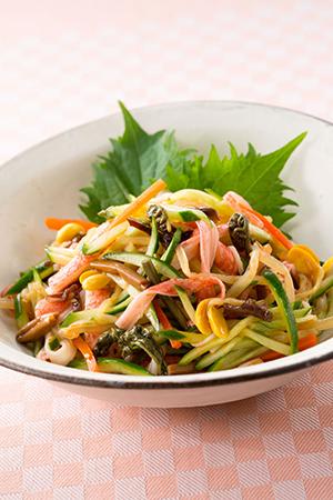 ビビンバとカニかまのサラダ