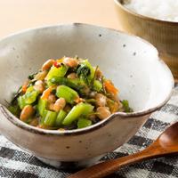 茎わさび入り野沢菜こんぶの納豆和え